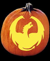 SPOOKMASTER DRAGON PUMPKIN CARVING PATTERN