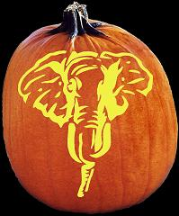 SpookMaster Republican Party Elephant Pumpkin Carving Pattern