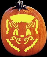 SpookMaster Feline Friend Cat Pumpkin Carving Pattern