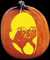SPOOKMASTER UNCLE FESTER ADDAMS PUMPKIN CARVING PATTERN
