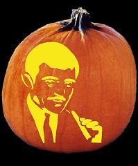SPOOKMASTER GOMEZ ADDAMS PUMPKIN CARVING PATTERN