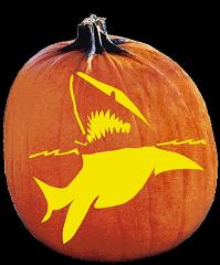 SPOOKMASTER GREAT WHITE SHARK PUMPKIN CARVING PATTERN