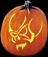 SpookMaster Hellion Demon Devil Pumpkin Carving Pattern