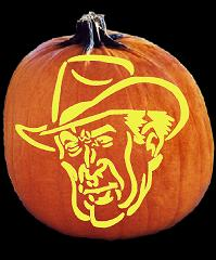 SpookMaster Home on the Range (Cowboy) Pumpkin Carving Pattern