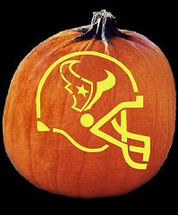 SPOOKMASTER NFL FOOTBALL HOUSTON TEXANS HELMET PUMPKIN CARVING PATTERN