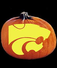 SpookMaster Kansas State Wildcats College Football Team Pumpkin Carving Pattern