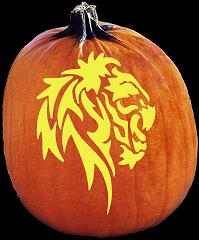 SpookMaster Lions Head (Lion) Pumpkin Carving Pattern