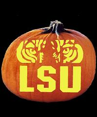 SpookMaster LSU (Louisiana State) Tigers College Football Team Pumpkin Carving Pattern