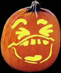 SPOOKMASTER A MILLION LAUGHS PUMPKIN CARVING PATTERN