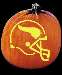 SPOOKMASTER NFL FOOTBALL MINNESOTA VIKINGS HELMET PUMPKIN CARVING PATTERN