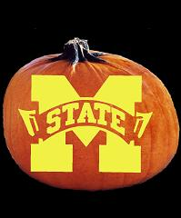 SpookMaster Mississippi State Bulldogs College Football Team Pumpkin Carving Pattern