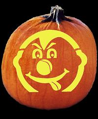 SPOOKMASTER MISTER GOOFY PUMPKIN CARVING PATTERN