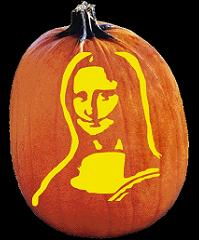 SPOOKMASTER MONA LISA PUMPKIN CARVING PATTERN
