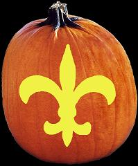 SPOOKMASTER NFL FOOTBALL NEW ORLEANS SAINTS PUMPKIN CARVING PATTERN