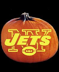 SPOOKMASTER NFL FOOTBALL NEW YORK JETS PUMPKIN CARVING PATTERN