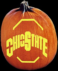 SpookMaster Ohio State Buckeyes College Football Team Pumpkin Carving Pattern
