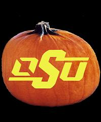 SpookMaster Oklahoma State Cowboys College Football Team Pumpkin Carving Pattern