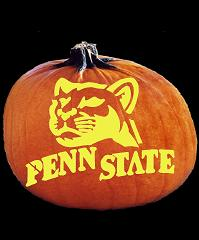 SpookMaster Penn State Nittany Lions College Football Team Pumpkin Carving Pattern