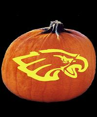 SPOOKMASTER NFL FOOTBALL PHILADEPHIA EAGLES PUMPKIN CARVING PATTERN