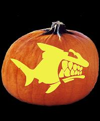 SPOOKMASTER PIRANHA PUMPKIN CARVING PATTERN