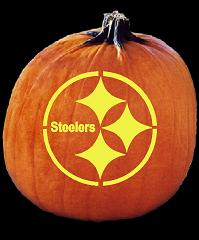 SPOOKMASTER NFL FOOTBALL PITTSBURGH STEELERS PUMPKIN CARVING PATTERN
