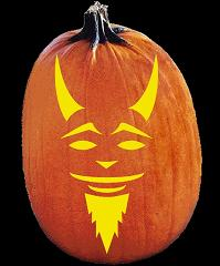 SPOOKMASTER RED DEMON PUMPKIN CARVING PATTERN