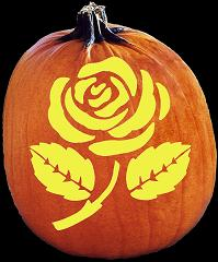 SPOOKMASTER ROSES ON YOUR GRAVE PUMPKIN CARVING PATTERN
