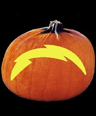 SPOOKMASTER NFL FOOTBALL SAN DIEGO CHARGERS PUMPKIN CARVING PATTERN