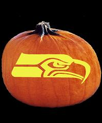 SPOOKMASTER NFL FOOTBALL SEATTLE SEAHAWKS PUMPKIN CARVING PATTERN