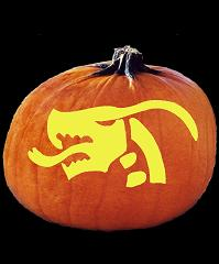 SpookMaster Serpent Dragon Demon Pumpkin Carving Pattern