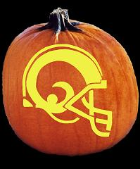 SPOOKMASTER NFL FOOTBALL ST LOUIS RAMS HELMET PUMPKIN CARVING PATTERN