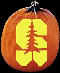 SpookMaster Stanford University Cardinal College Football Team Pumpkin Carving Pattern