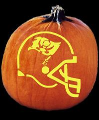 SPOOKMASTER NFL FOOTBALL TAMPA BAY BUCCANEERS HELMET PUMPKIN CARVING PATTERN