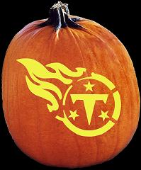 SPOOKMASTER NFL FOOTBALL TENNESSEE TITANS PUMPKIN CARVING PATTERN