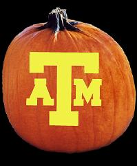 SpookMaster Texas A & M Aggies College Football Team Pumpkin Carving Pattern