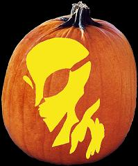 SPOOKMASTER ALIEN PUMPKIN CARVING PATTERN