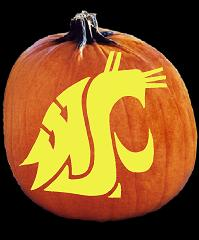 SpookMaster Washington State Cougars College Football Team Pumpkin Carving Pattern