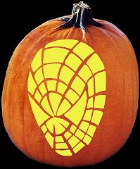 SpookMaster Webhead (Spiderman) Pumpkin Carving Pattern
