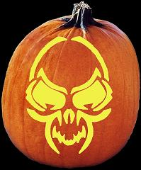 SpookMaster Wild Thing Monster Pumpkin Carving Pattern