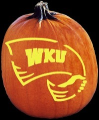 SPOOKMASTER WESTERN KENTUCKY HILLTOPPERS PUMPKIN CARVING PATTERN