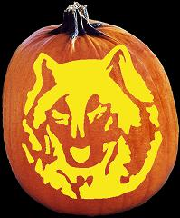 SPOOKMASTER WOLF PUMPKIN CARVING PATTERN